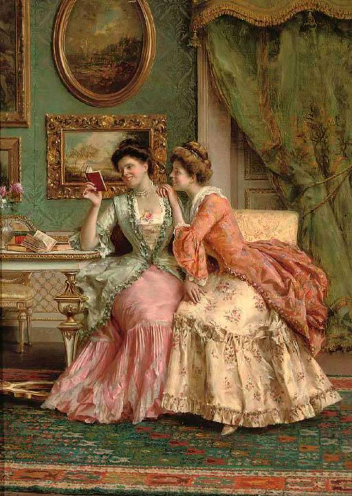 Alfred Stevens (Belgian, 1823-1906) ~ Girl Looking in the Mirror