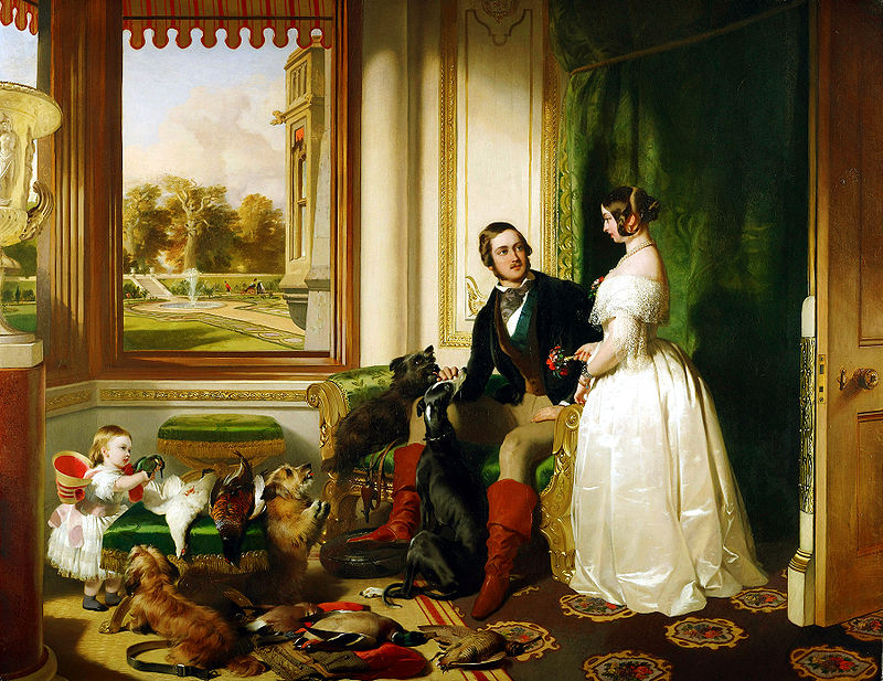 Queen Victoria and her family at Windsor Castle