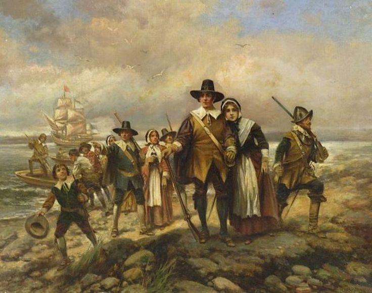 edward-percy-moran-american-artist-1862-1935-pilgrims-landing