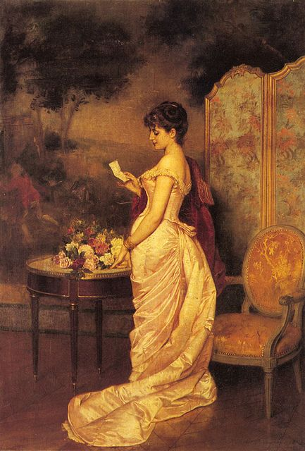 Auguste Toulmouche 'The Love Letter' 1883