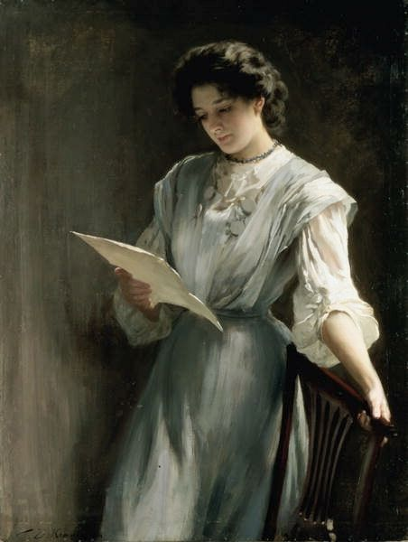 Reading the Letter by Thomas Kennington