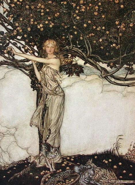 Freia, the fair one by Arthur Rackham
