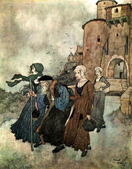 The Wind's Tale - Edmund Dulac (illustrations for Stories by Hans Christian Andersen, 1911