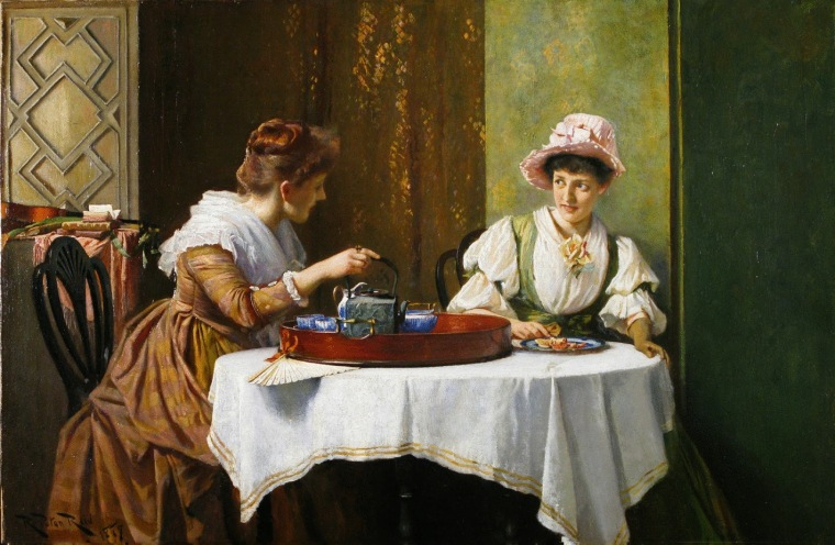 Robert Payton Reid - A Little Tea and Gossip 1859