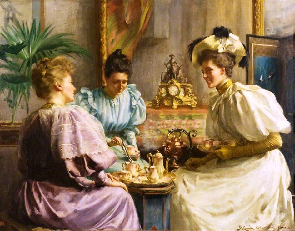 Resultado de imagen de conversacion tomando el te