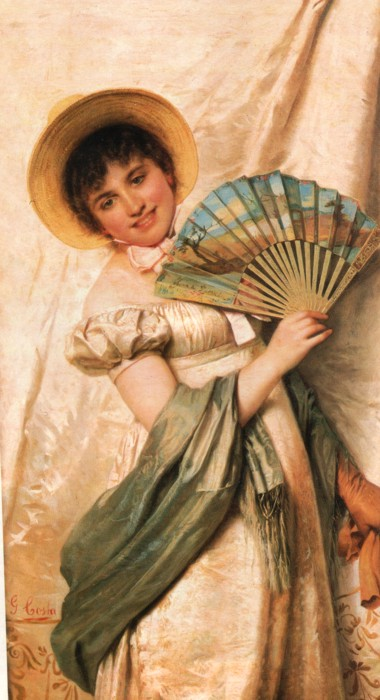 Giovanni Costa (1833-1902) The new fan