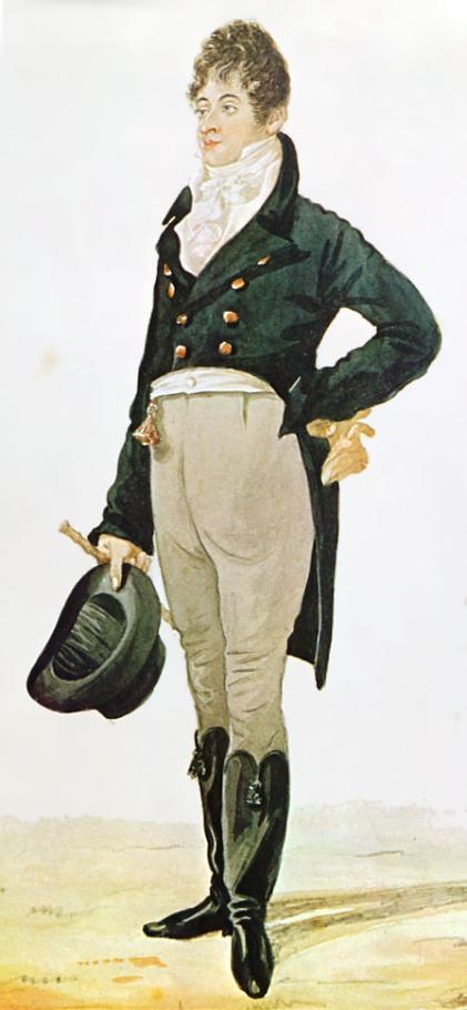 Caricatura de Beau Brummell Robert Dighton1805