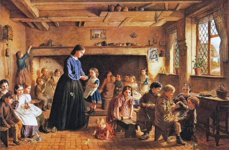a-straw-plaiting-school-in-essex-george-washington-brown-1864
