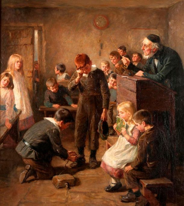 ralph-hedley-hedley-1848-1913-art-school-days-school-punishment