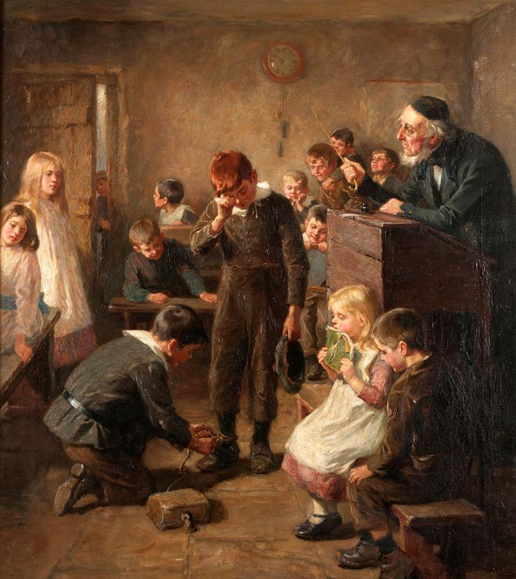 ralph-hedley-hedley-1848-1913-art-school-days-school-punishment