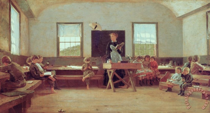 the-country-school-painting-winslow-homer
