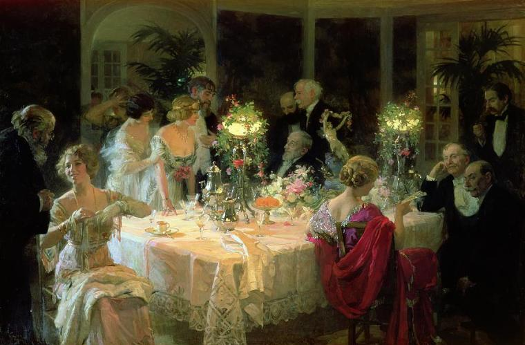 the-end-of-dinner-by-jules-alexandre-grun