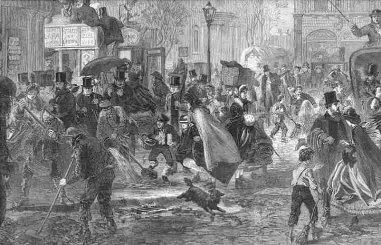 london-busy-street-scene.-thaw.-old-antique-print.1865-wdjb--135168-p