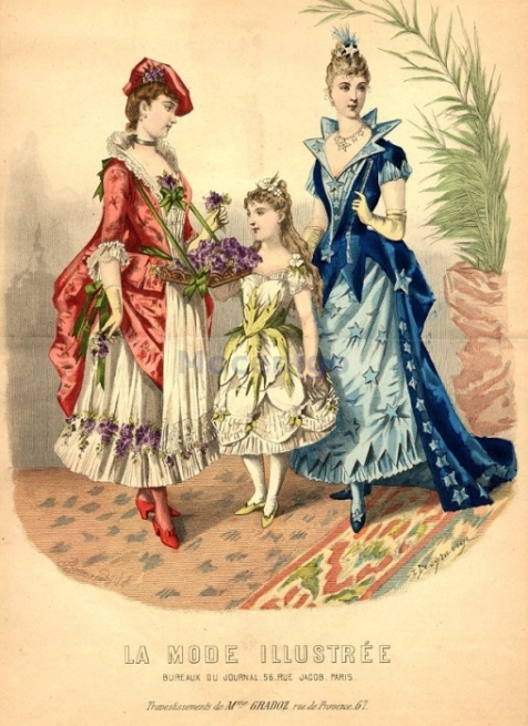Fancy dress, 1889 France, La Mode Illustree