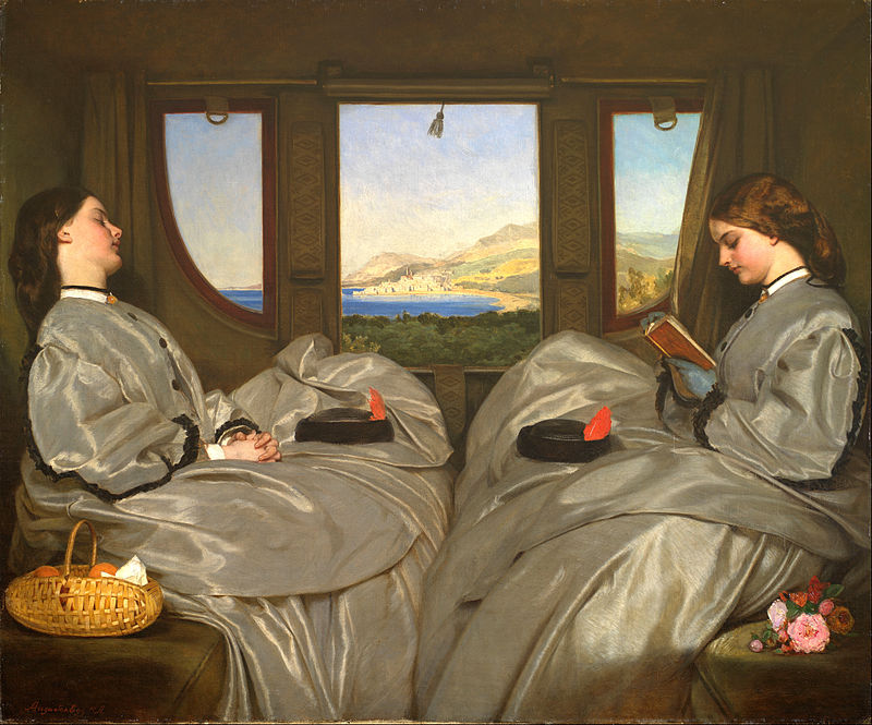 Augustus Leopold Egg, The Travelling Companions, 1862, Birmingham Museum and Art Gallery